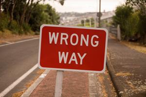 wrongwaysign