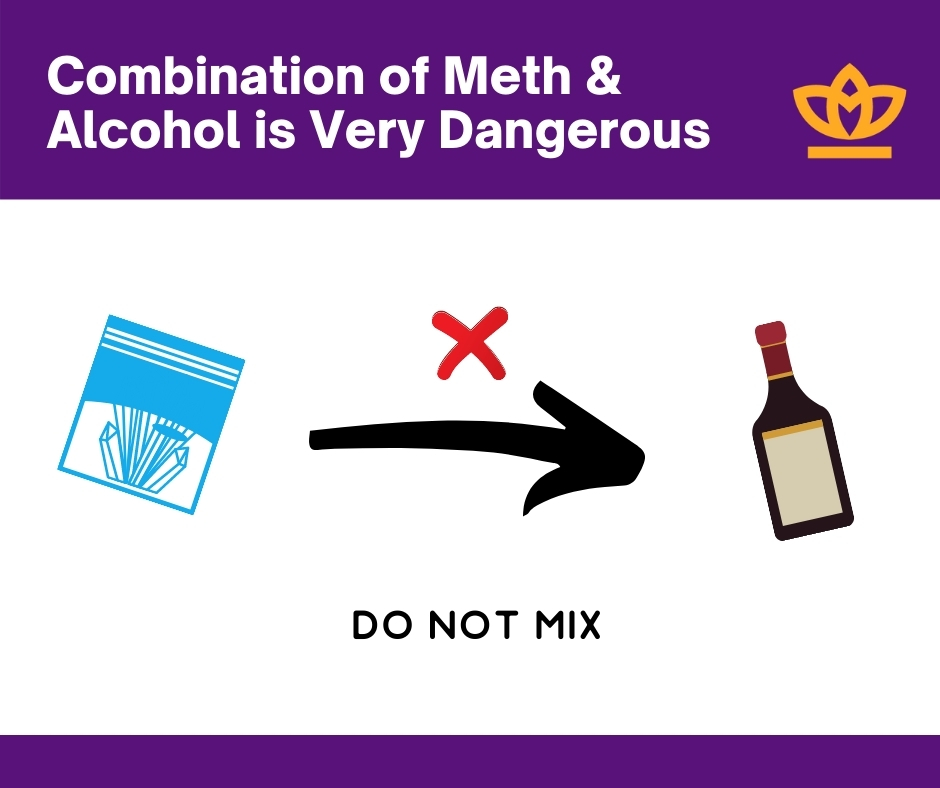 Combination of meth and alcohol is very dangerous
