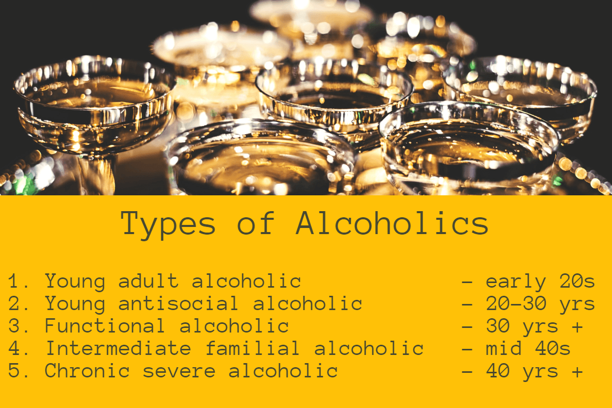 types of alcoholics explained
