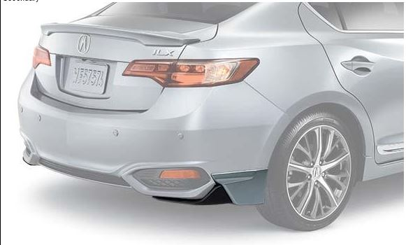 2016 Acura Ilx Sedan Under Body Spoiler Rear Crystal