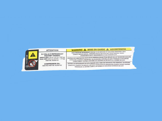 Air Conditioning System Label - Mopar (4677621AB)