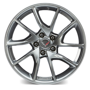 19X10 Inch Front Wheel (5Z8) - Nickel Pearl Painted (Z06 Only) - GM (23251390)