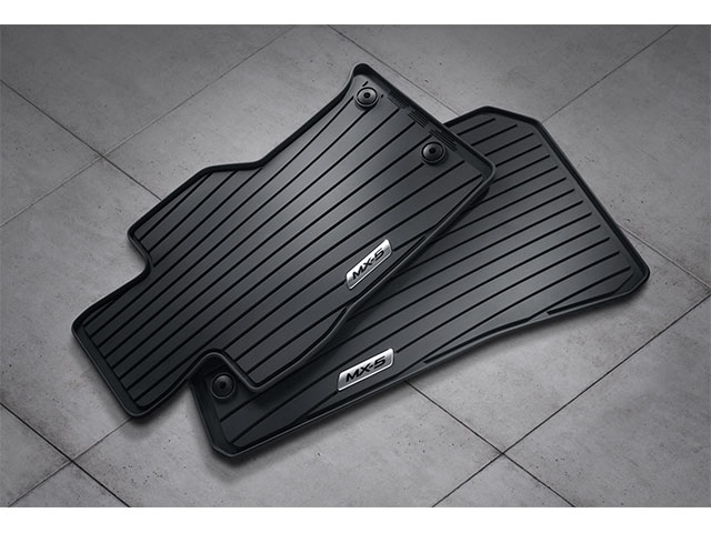 Floor Mats, Rubber All-Weather - 2016-2018 MX-5 Miata