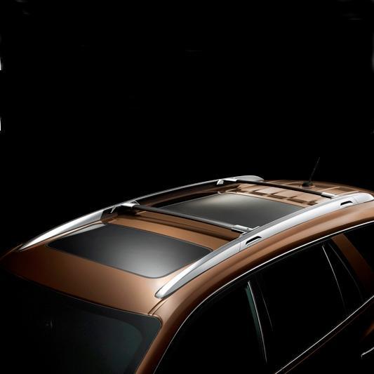 Buick Enclave Accessories 2011: Genuine GM Roof Cross Rails, Silver W/Chrome Caps 19170765