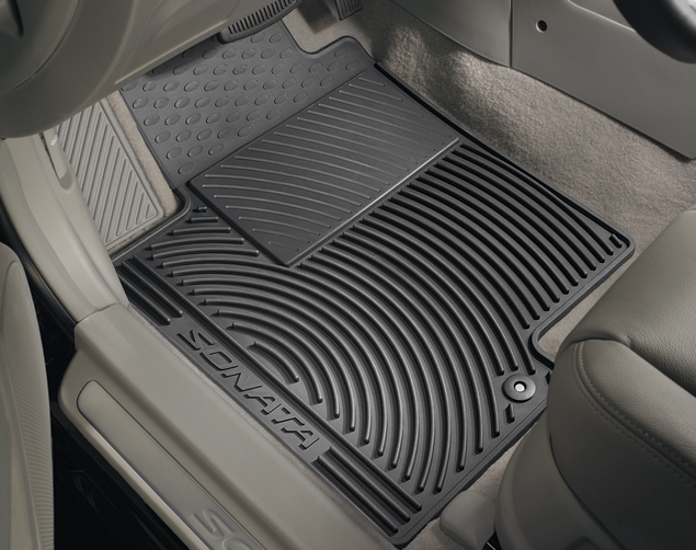 2011-2014 New Genuine Hyundai Sonata GLS SE Limited 2012-2015 Hybrid All Weather Floormats (REAR) - Hyundai (3QF13-AC200)
