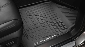 Floor Mats, All-Weather, Black With Logo