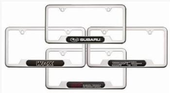 License Plate Frame, Stainless (Wrx)