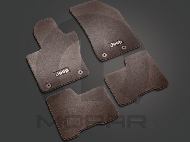 Jeep Renegade Premium Brown Carpet Floor Mat Set Four