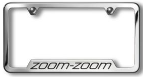 License Plate Frame (Brushed W/ Cx-9 Logo)