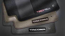 Floor Mats, Carpet, Tacoma Logo, Oak