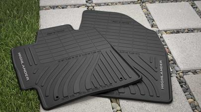 4PC All Weather Mats Black Highlander - Toyota (PT908-48G00-02)