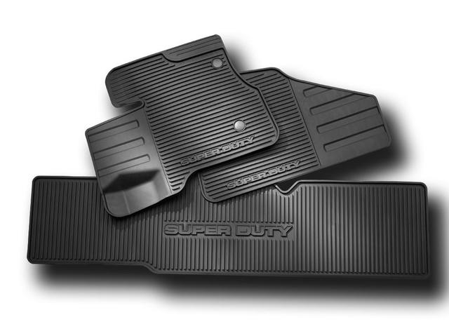 HC3Z-2613300-KA 2016 2017 2018 2019 Ford Super Duty all weather vinyl floor mats - Ford (HC3Z-2613300-KA)