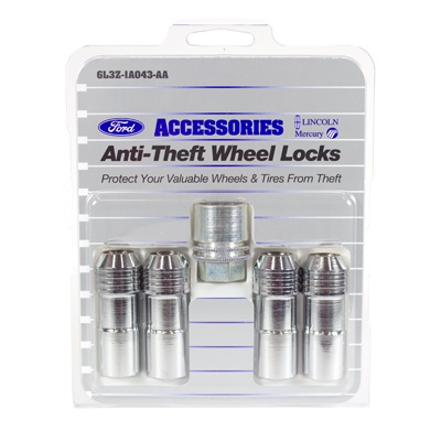 Wheel Locks, Chrome For Exposed Lugs - Ford (6L3Z-1A043-AA)