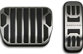 Pedal Covers, Bright Metal, Automatic