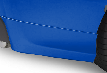 Splash Guards Rear Aero, Wr Blue