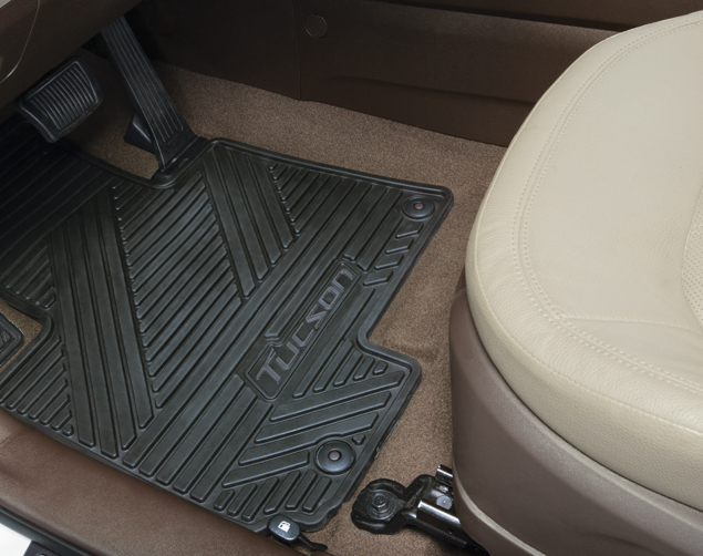 Floor Mats, All Weather, Rear - Hyundai (2SF13-AC500)