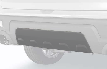 Center Trim, Rear Bumper *NH797M* (Modern Steel Metallic) - Honda (08F03-TGS-130A)