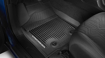 Floor Mats, All Weather, Set Of Three, Black