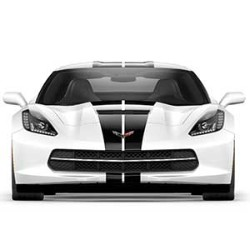 CORVETTE CONVERTIBLE CARBON FLASH FULL LENGTH DUAL RACING STRIPE PACKAGE - GM (22989158)
