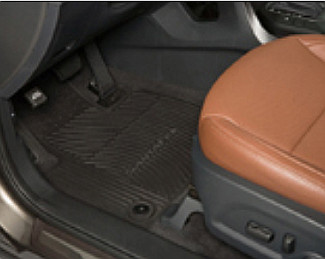 Floor Mats, All Weather ( black ) 1st and 2nd Row