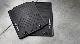 All-Weather Floor Mats,Black,2 Pc
