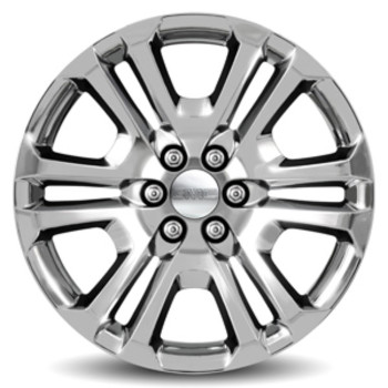 "22"" Wheel, 6 Split-Spoke, Chrome"