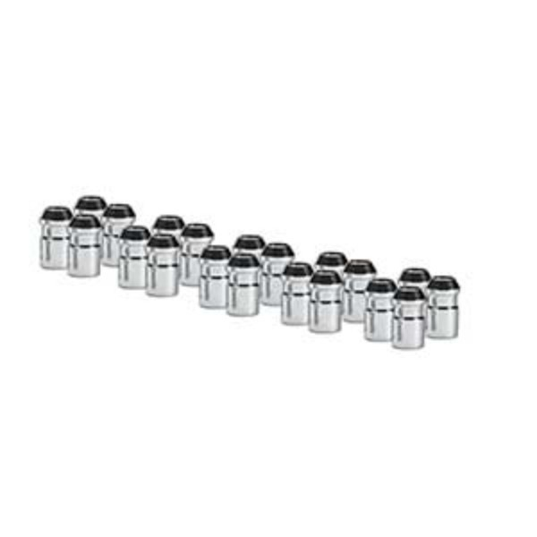 Wheel Lug Nuts W/Stainless Steel Caps, 24pc