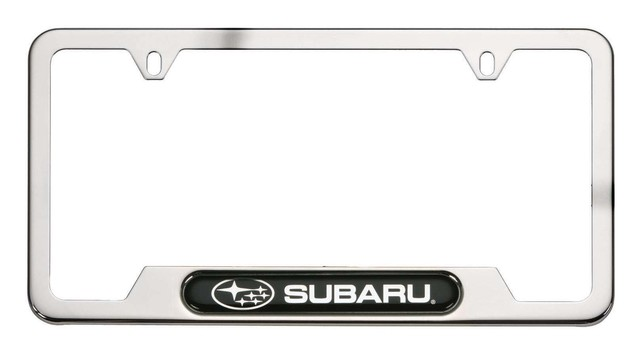 License Plate Frame, Stainless (Subaru)