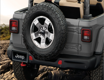 Rubicon ®  Steel 3-pc. Bumper, Front for Jeep Wrangler JL and Jeep Gladiator JT - Mopar (82215121AB)
