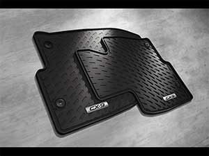 Rubber Floor Mats, 2016-2018 CX-9 All-Weather (Front Set only)