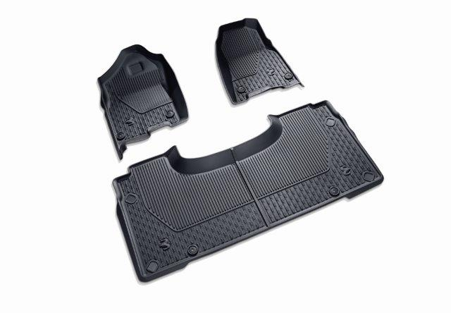 Ram 1500 DT Crew Cab Black Mat Kit - Front & Rear