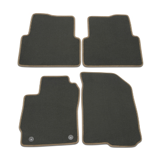 Floor Mats, 4-Pc. Set, Black w/ Brick Edging (w/ RPO Code1BF, 4AA)
