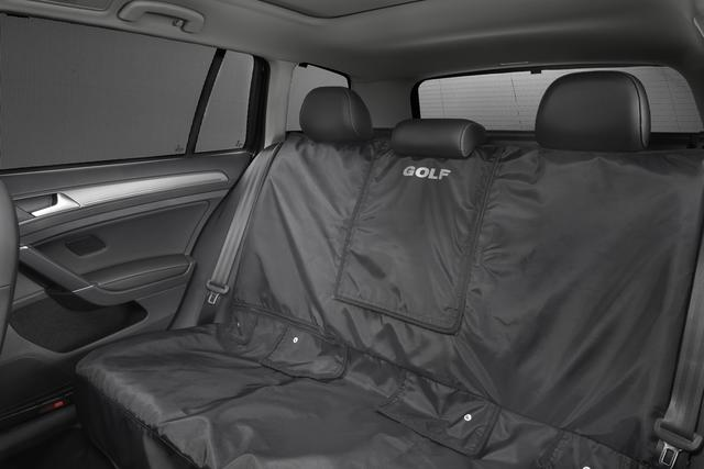 Rear Seat Cover With Golf Logo - Black - Volkswagen (5G0-061-678-041)