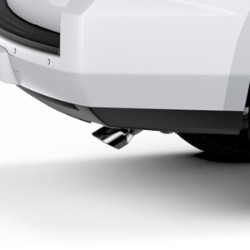 Exhaust Tip, Single, Dual Wall