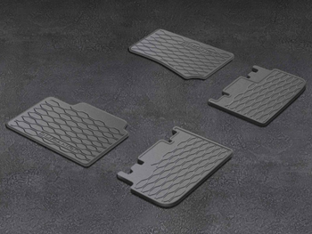 All Weather Floor Mats - Black - Third Row