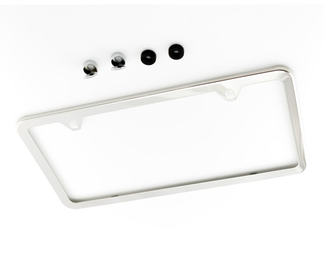 License Plate Frame - Slim - Polished - Volkswagen (ZVW-355-001)