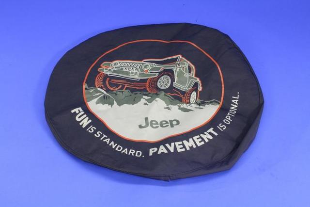Cover, Spare Tire, Fun Is Standard - Mopar (82210885AB)