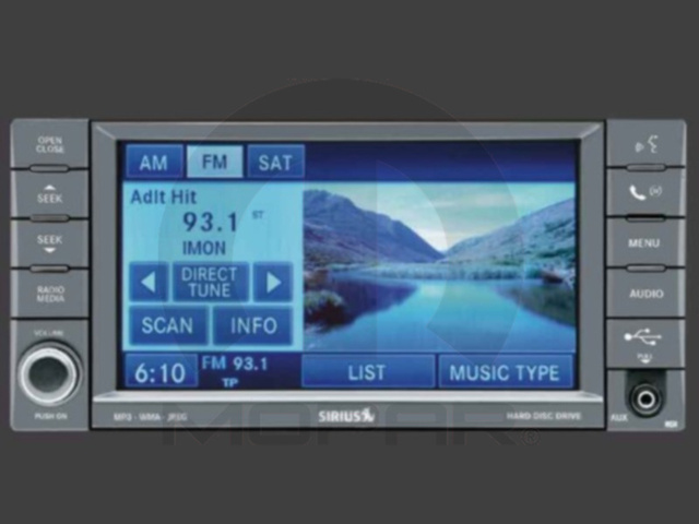AM/FM Navigation With CD, DVD, MP3, HDD