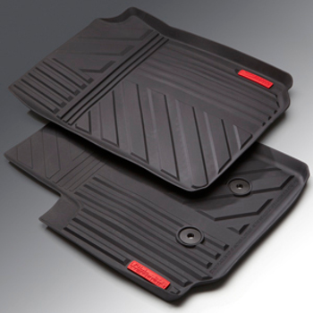 2015-2019 GMC Canyon Front All-Weather Floor Mats Black All-Terrain - GM (22963074)