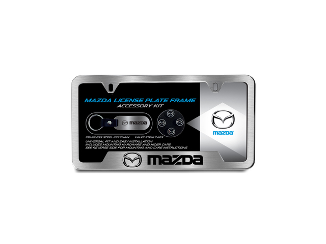 License Plate Frame Gift Set, Mazda