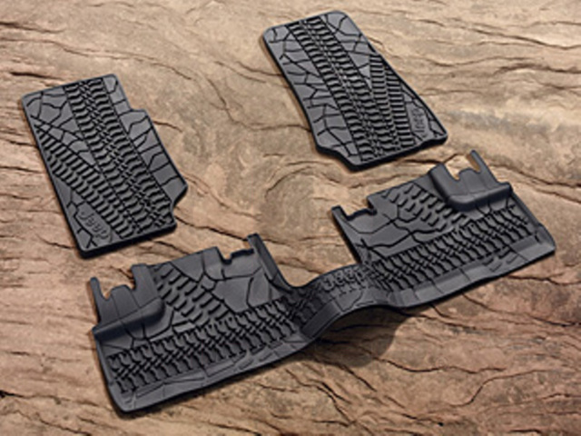 JEEP WRANGLER FLOOR SLUSH MATS 4-DOOR UNLIMITED - MOPAR (82210166AD)