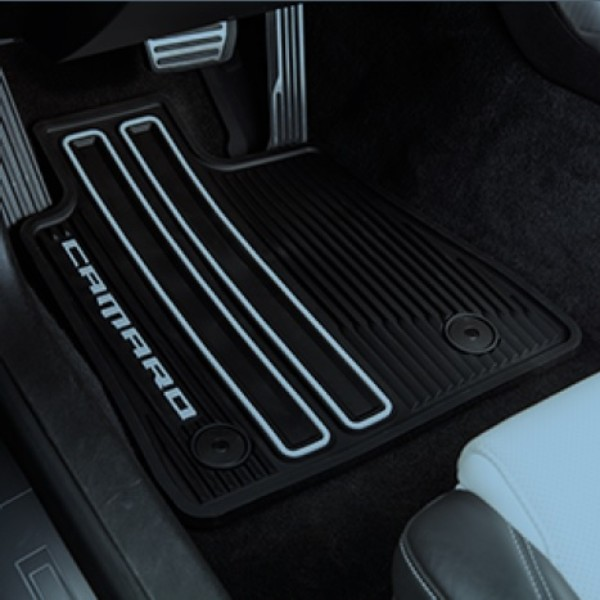 Chevrolet All-Weather Floor Mats, 4 Pc, Black - Gen 6 Camaro