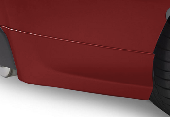 Splash Guards Rear Aero, Pure Red