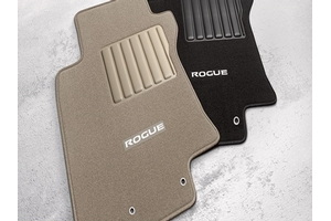 2014 2015 nissan rogue black carpeted floor mats front. Black Bedroom Furniture Sets. Home Design Ideas