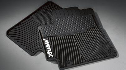 2PC All Weather Mats Black MTRX4 - Toyota (PT908-1201W-02)