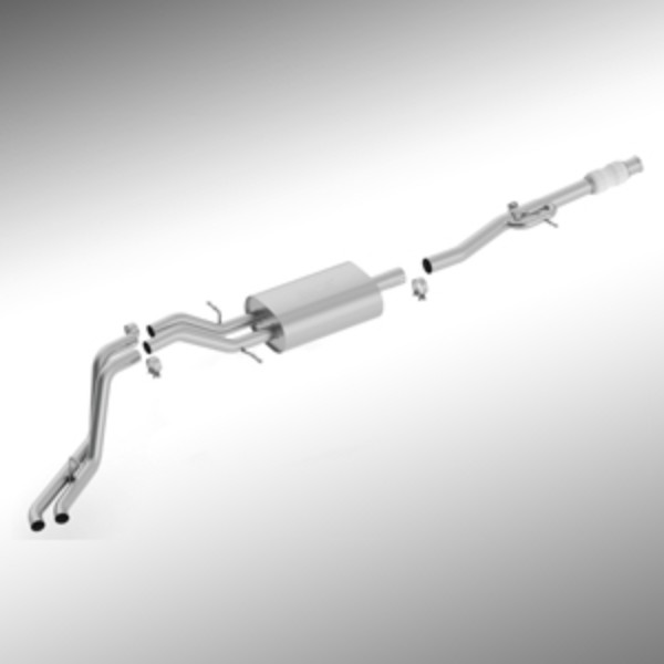 14-17 Borla(R) 6.2L Dual Side Exit Cat-Back Exhaust System, Crew Cab Short Box, Double Cab Standard C