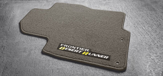 Desert Runner Carpeted Floor Mats (3 piece set) - 2014 Frontier King Cab Desert Runner Charcoal