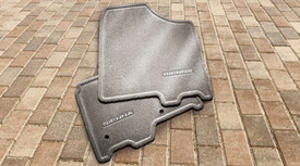 Carpet Floor Mats,Light Gray, 6Pc,Fixed Console,8 Passenger