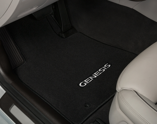 Oceanids Black Rwd Floor Mats, Carpeted