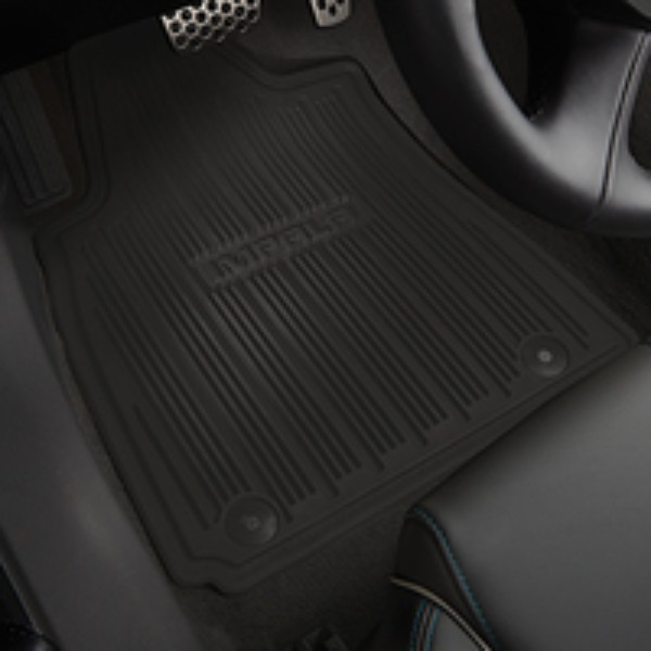 ALL WEATHER MAT PKG,FRONT & REAR (BLACK)